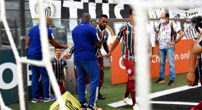 Luccas Claro e Marcão - Santos x Fluminense