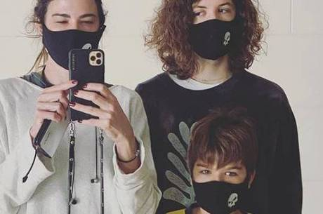 Luciana, Lucas e Lorenzo