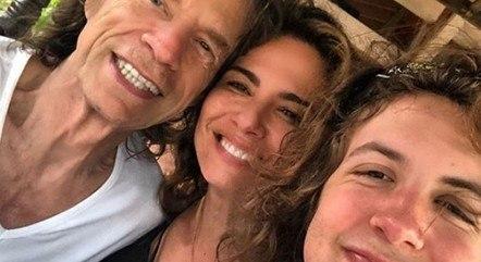 Mick Jagger, Luciana Gimenez e Lucas