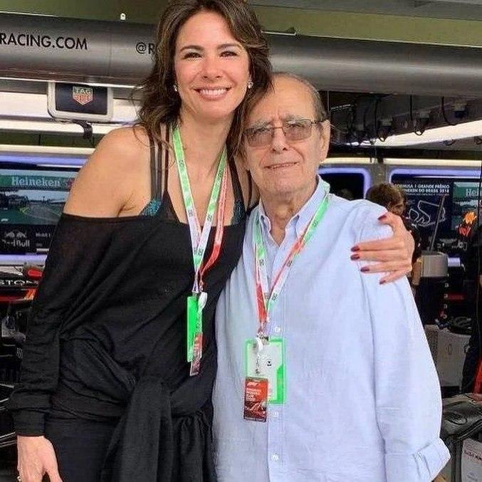 Luciana em rara aparição ao lado do pai, o empresário João Alberto Morad