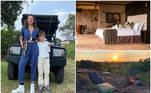 Luciana Gimenez levou o filho Lorenzo para conhecer a Tanzânia, no continente africano. Lá, ela se hospedou em um resort cujas diárias variam de R$ 6,6 mil até R$ 150 mil na alta temporada, que vai de junho a outubro. A apresentadora, inclusive, mostrou alguns detalhes do quarto ao tomar banho de banheira com vista para o safári da região