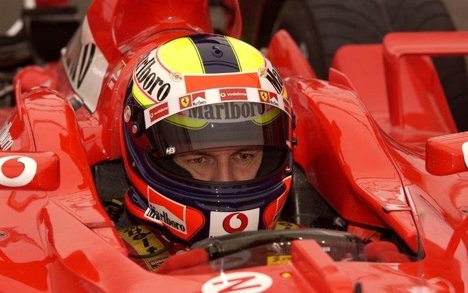 Luciano Burti começou 2001 na Jaguar, mas foi trocado e seguiu para a equipe Prost. Um grave acidente na Bélgica abreviou sua carreira. Ele também foi piloto de testes da Ferrari