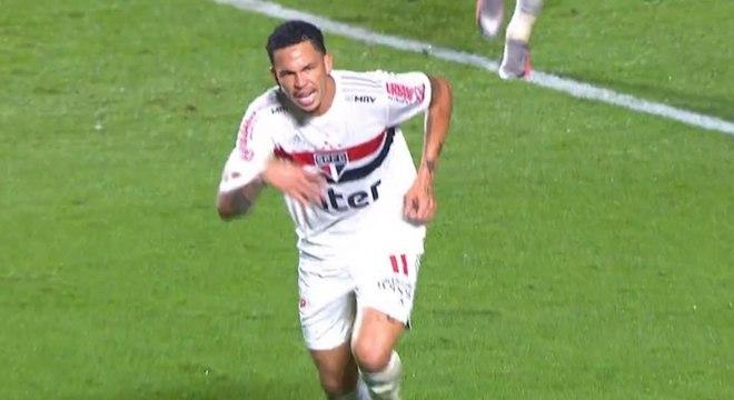 Luciano marcou o seu primeiro gol pelo São Paulo