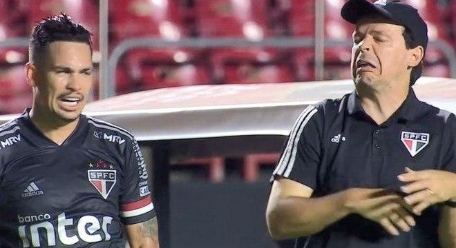 Luciano e Fernando Diniz são muito próximos. Relação é um dos trunfos do São Paulo