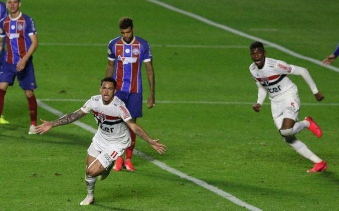 Luciano - No dia 20 de agosto de 2020, o atacante Luciano estreou pelo São Paulo, entrando no segundo tempo da partida contra o Bahia, no Brasileirão. Nos minutos finais do jogo, o atleta fez o gol de empate do Tricolor Paulista, que terminou o jogo em 1 a 1.