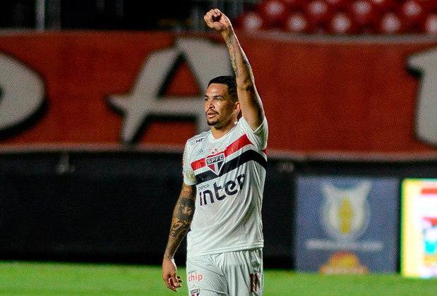 Luciano - o atacante de 28 anos tem contrato com o São Paulo até dezembro de 2022.