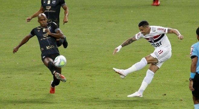 Depois de brilhar nos últimos jogos, Luciano não conseguiu marcar