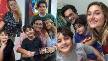 Recuperado da covid, Szafir posta foto rara com a família completa