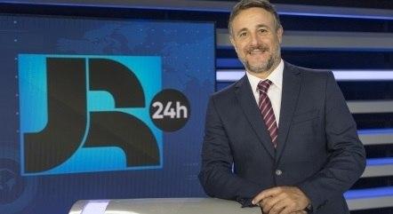 Lucio Sturm é um dos apresentadores do Boletim JR 24 Horas