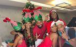 Ludmilla comemora o Natal ao lado da família