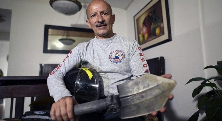 O colombiano Luis Eduardo Marulanda, de 57 anos, relembra como foi trabalhar nos escombros do WTC
