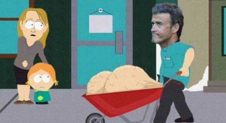Luís Enrique, o treinador da Espanha, segundo o Twitter da sua seleção