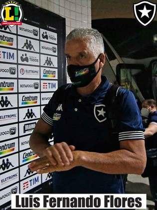 Luís Fernando Flores - 7,0 - O Botafogo entrou apagado na partida, mas conseguiu acordar e jogar bem para virar a partida. Fez alterações que controlaram o resultado da partida