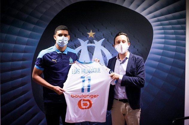 Luis Henrique - Atacante - 19 anos - Olympique de Marselha - Ainda em 2020, Luis Henrique deixou o Botafogo e foi para a França. No Olympique de Marselha, está recebendo poucas chances e ainda não balançou as redes.