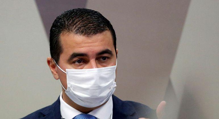 Deputado Luis Miranda durante depoimento à CPI da Covid no Senado