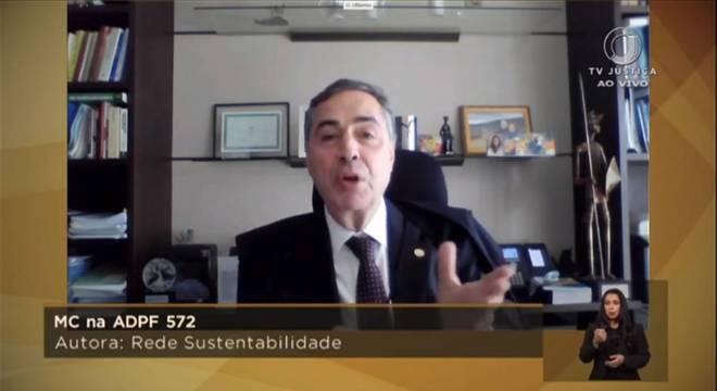 Luís Roberto Barroso disse que o STF tem jurisdição por todo o território brasileiro