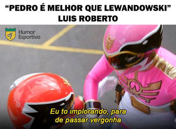 Luis Roberto compara Pedro, do Flamengo, a Lewandowski e vira meme nas redes sociais