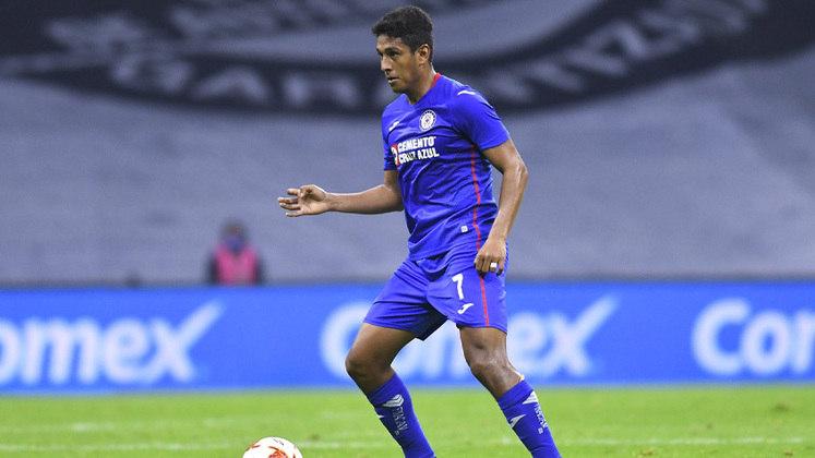 Luis Romo - Clube: Cruz Azul - Seleção: México - Posição: Meia - Idade: 26 anos - Valor segundo o Transfermarkt: 8 milhões de euros (aproximadamente R$ 48,36 milhões)