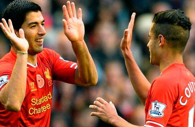 Luis Suárez e Philippe Coutinho: jogaram juntos no Liverpool e no Barcelona.