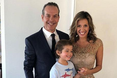 Luisa Mell com o marido e o filho
