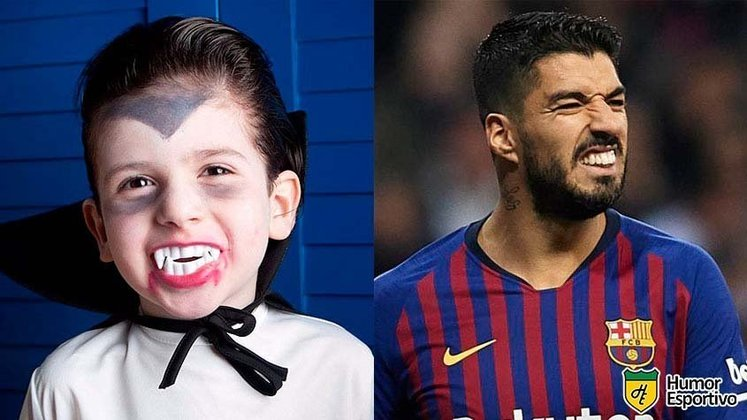Luisito Suárez devia usar a fantasia de vampiro do Halloween o ano inteiro.