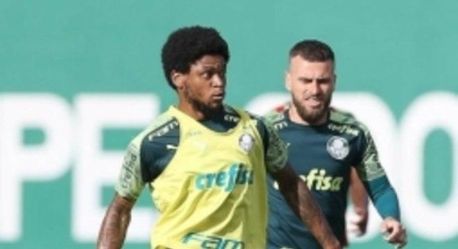 Luiz Adriano treino Palmeiras