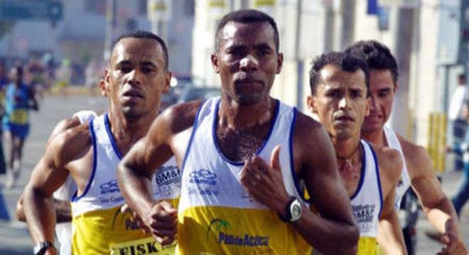 Luiz Antonio dos Santos, numa competição no Brasil