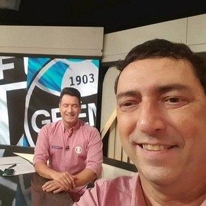 Luiz Carlos Jr. e Paulo Vinícius Coelho no estúdio do SporTV