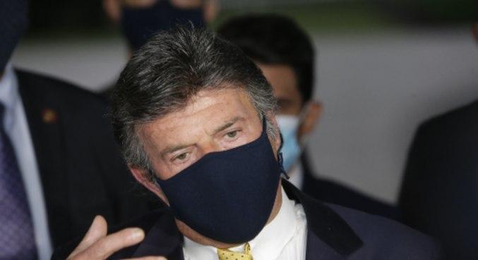 O presidente do Supremo Tribunal Federal, Luiz Fux, após encontro com Bolsonaro