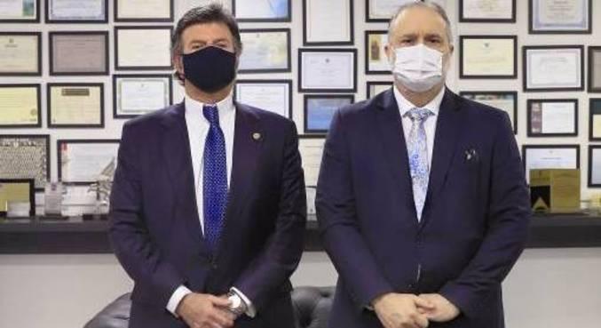 O presidente do STF, Luiz Fux, e o procurador-geral da República, Augusto Aras