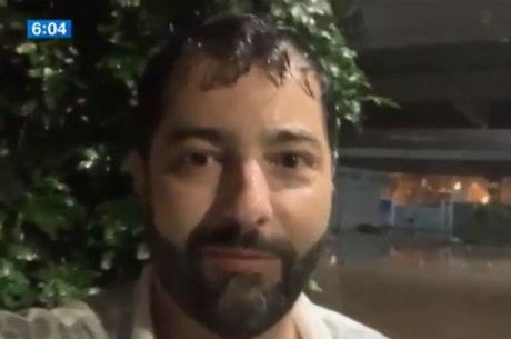 Luiz Megale não conseguiu chegar à Banda por causa da chuva