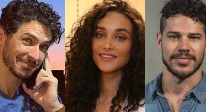 Luiz, novo namorado de Débora, e Loreto, o ex-marido