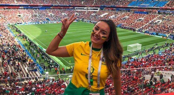 Luiza na Copa da Rússia, em 2018