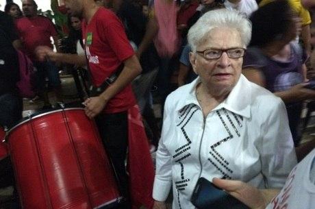 Erundina foi até o aeroporto para se despedir
