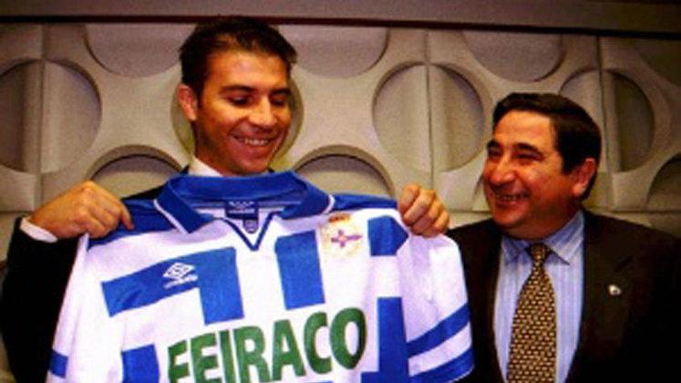 LUIZÃO - O atacante chegou ao La Coruñaem 1997, depois de vestir a camisa do Palmeiras. Ficou até 1998, tendo no currículo por lá um Troféu Teresa Herrera.