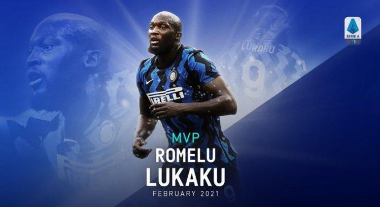 """Lukaku, da Inter, o MVP do """"Calcio"""" em Fevereiro"""