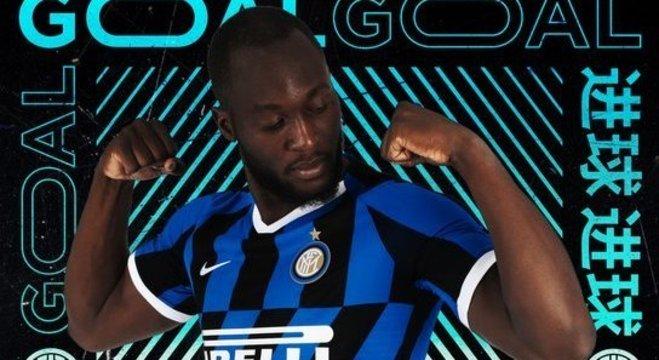Luklaku, na capa do twitter da Internazionale