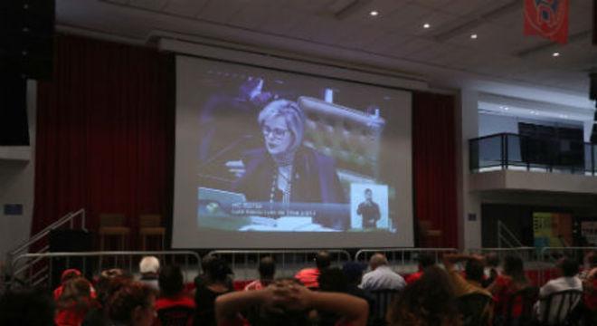 Sindicato dos Metalúrgicos do ABC, onde Lula acompanhou o julgamento do STF