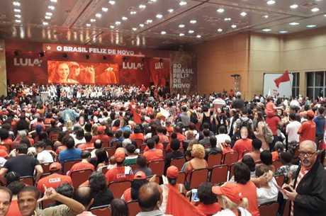 Evento contou com participação de militantes e cúpula do partido