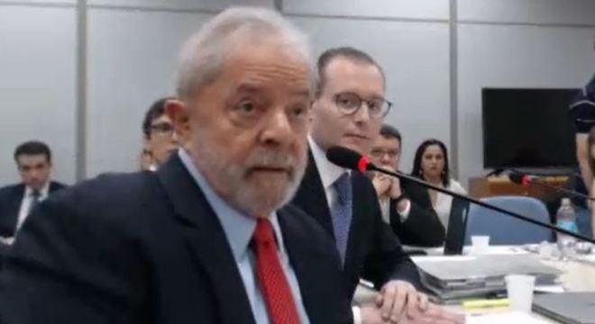 Lula durante o seu último depoimento