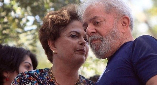 Lula estava acompanhado de aliados, inclusive a ex-presidente Dilma Rousseff