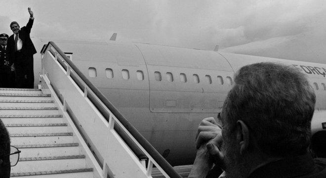 Lula e Fidel, fundadores do Foro de Sao Paulo, se despedem em Havana em 2003