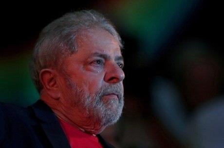 O ex-presidente Lula, preso há um ano na PF de Curitiba