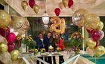 Luma Cesar, filha de Elaine Mickely e César Filho, ganhou um festão de aniversário