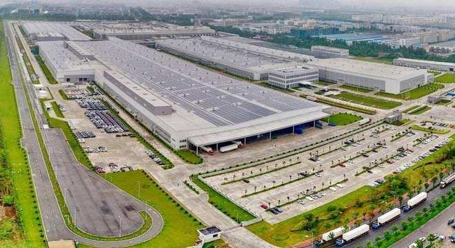 Unidade de Luquiao onde são produzidos modelos Volvo na China: uma das maiores do mundo