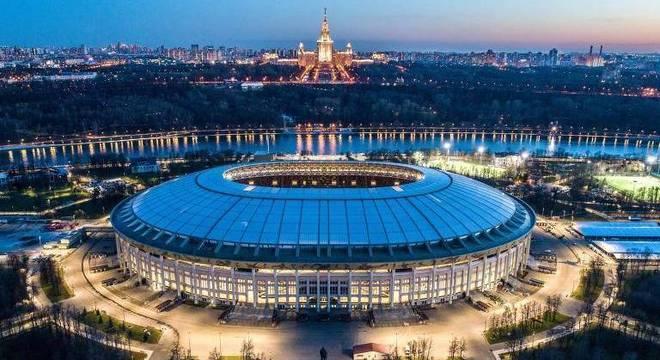 O lindo Luzhniki de Moscou