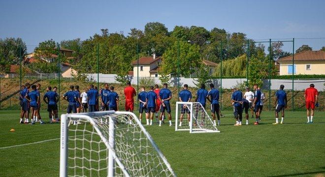 A preparação do Lyon, em Lisboa