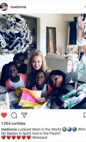 Madonna em foto postada na web