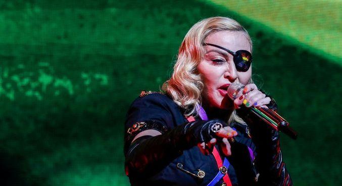 Madonna durante apresentação em Nova York, em 2019
