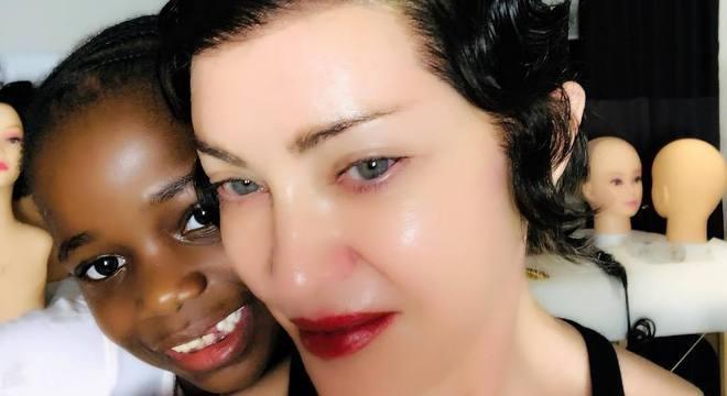 Madonna adora compartilhar fotos com a família